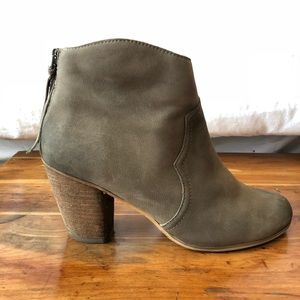BP 'Trott' Taupe Leather Bootie Size 7.5
